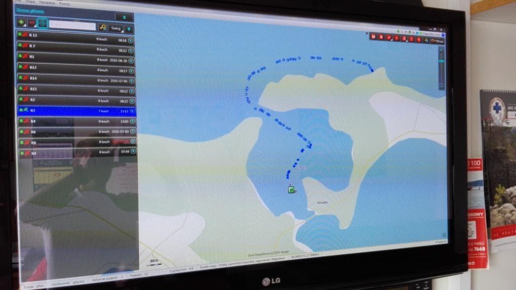 Puplit GPS łodzi ratowniczych
